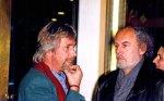 1998 im Foyer: Schauburg Intendant George Podt im Gespräch mit Volker Ludwig, dem Leiter des Grips Theaters in Berlin