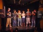 Siegerehrung beim Poetry Slam im Foyer der Schauburg