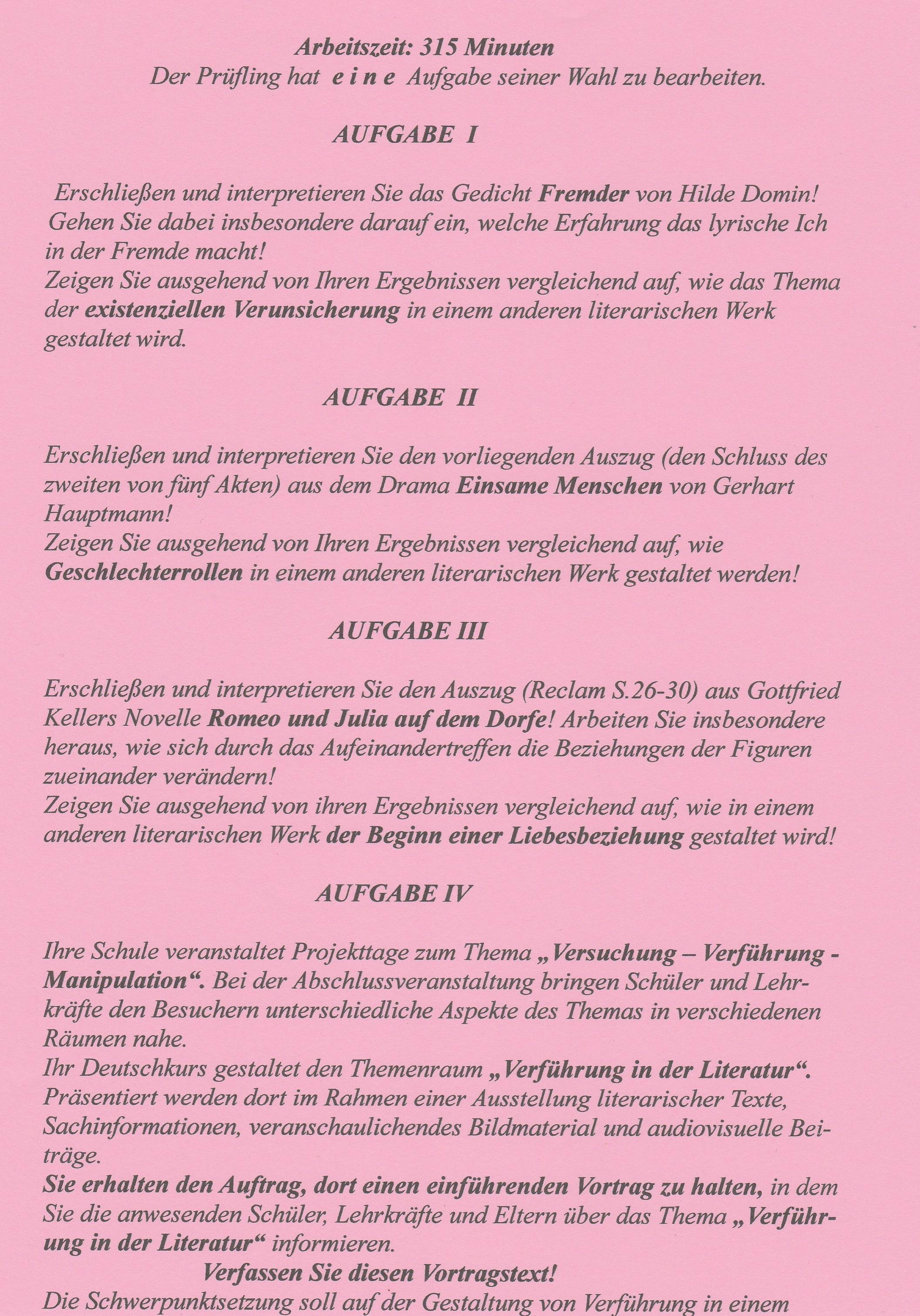 bayern abiturpr252fung 2016 deutsch die aufgaben i ii