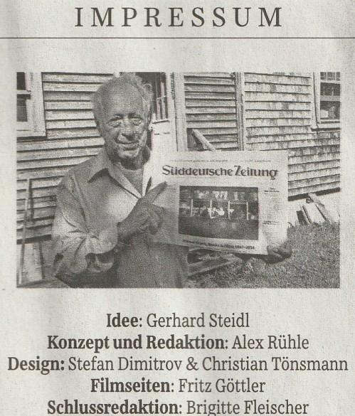 SZ Robert Frank Ausgabe Impressum 21.11.2014